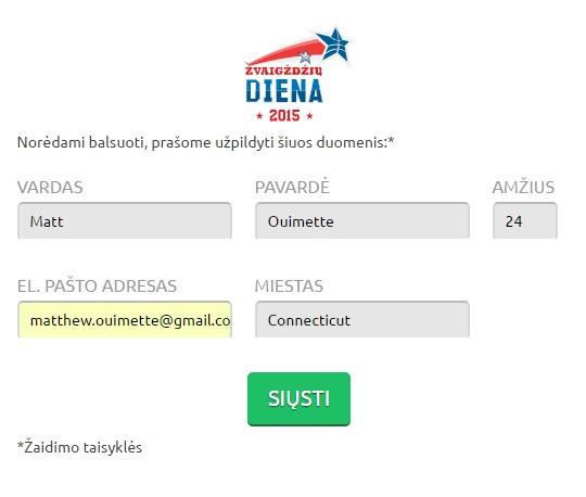 Vote Info Page